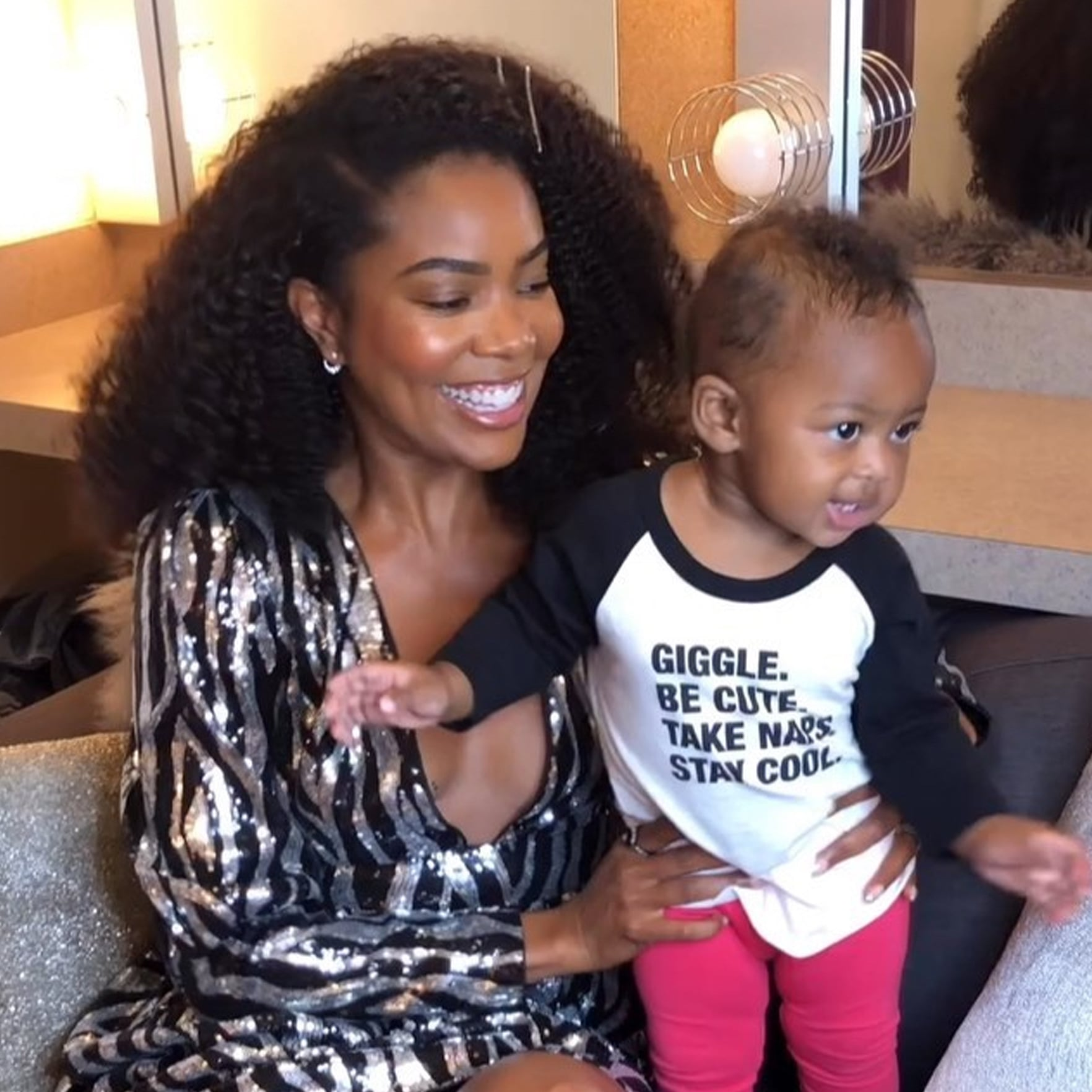 Gabrielle Union Shares New Pics Of Baby Kaavia – She's Not A Fan Of Snow!