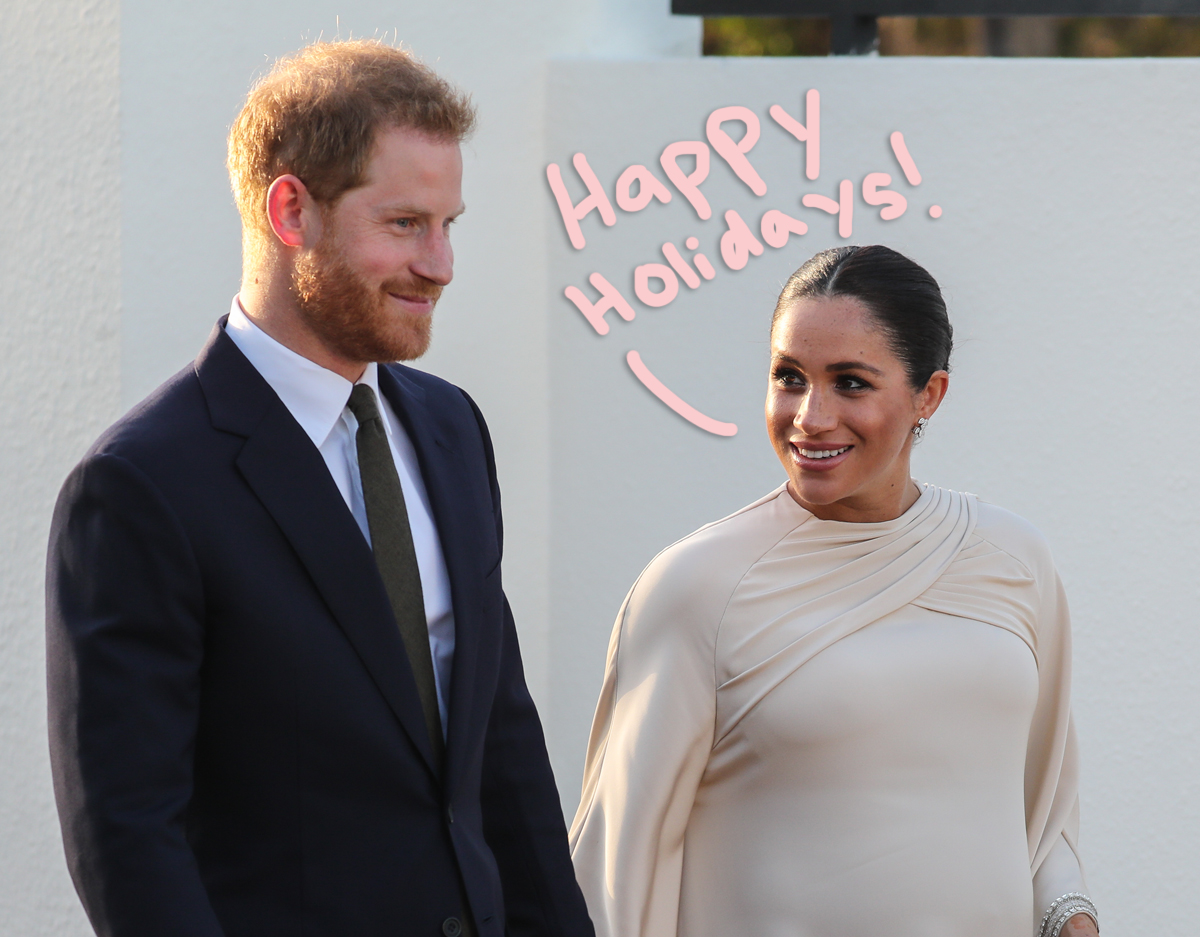 Meghan Markle & Prince Harry Share ADORABLE 2020 Christmas Card — Proving Archie Is A Redhead!