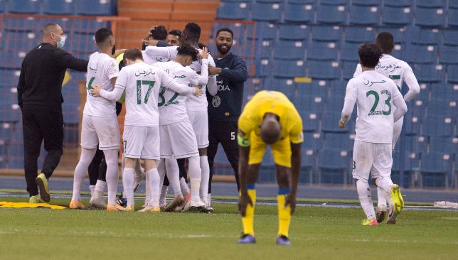 Al Nassr suffering against Al Shabab (EPA).