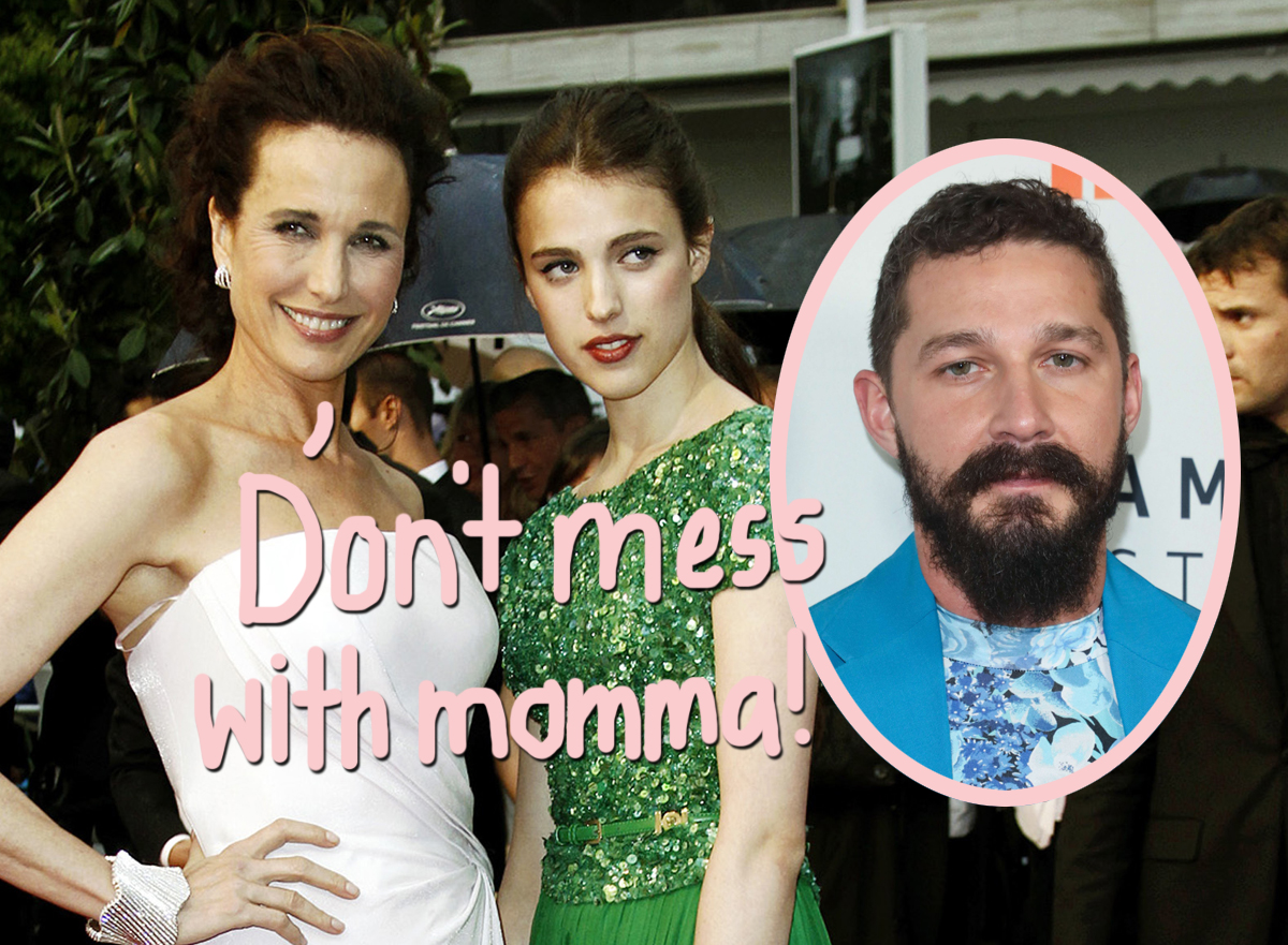 Margaret Qualley's Momma Andie MacDowell Keeping 'Extremely Close Watch' On Shia LaBeouf Romance After Abuse Allegations!
