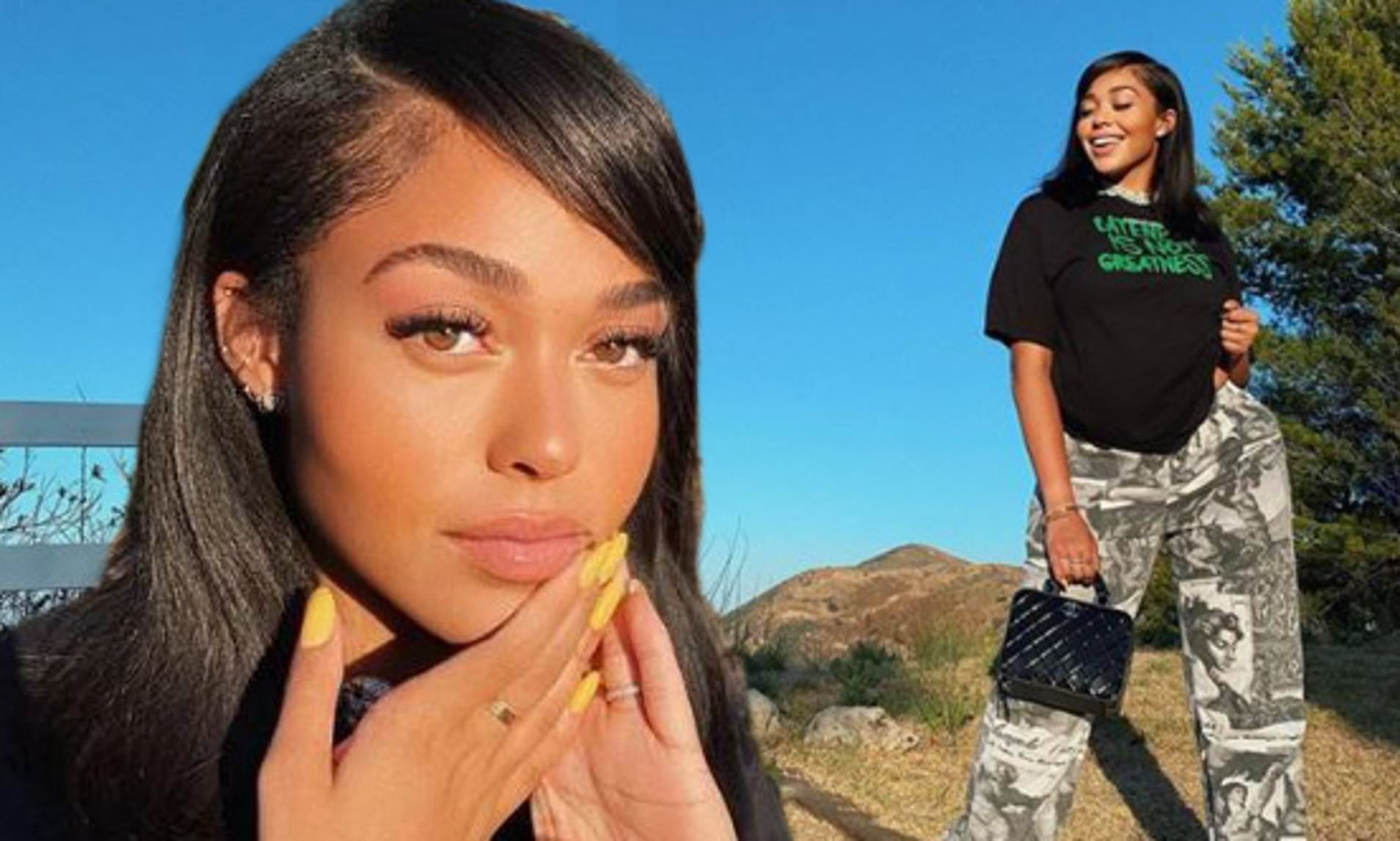 Jordyn Woods Looks Amazing In This Teal Velvet Dress – See Her Latest Photos