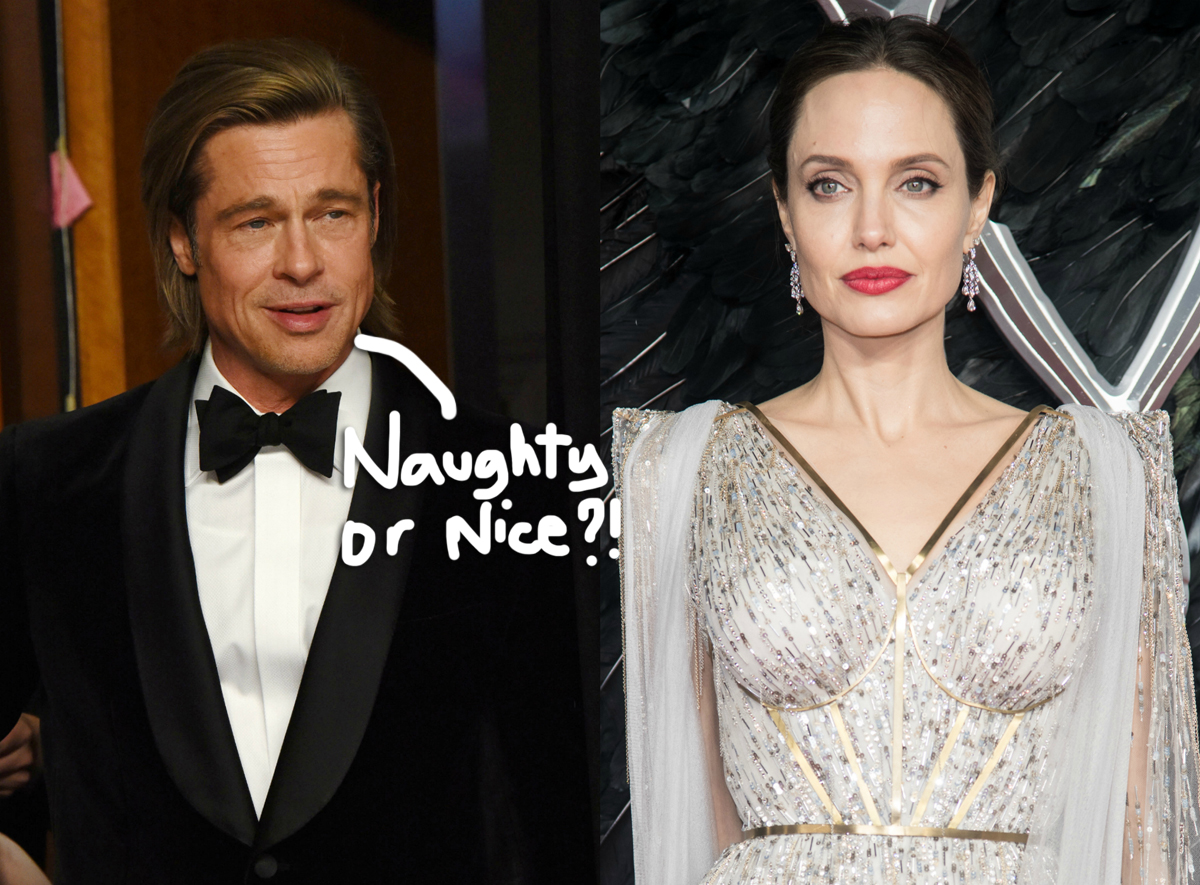 Brad Pitt & Angelina Jolie ALMOST Spent Christmas Together But 'Egos' Got In The Way -- AGAIN!