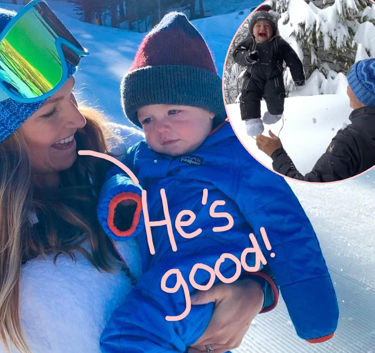 Former Ski Champ Defends Throwing Her Baby Into Snow Bank!