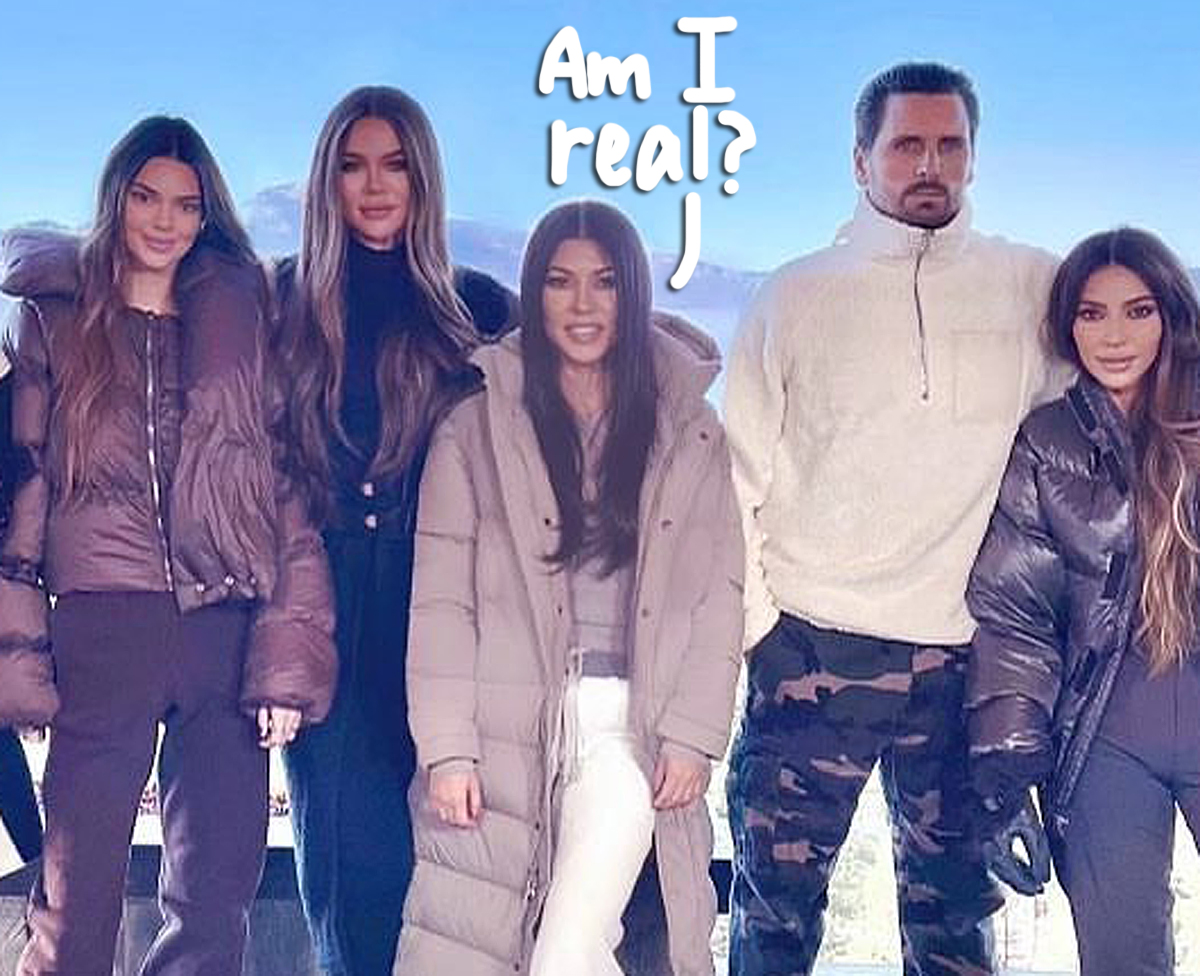 Did Kim Kardashian PHOTOSHOP Kourtney Into Family Holiday Photo?? Fans Are Scratching Their Heads!