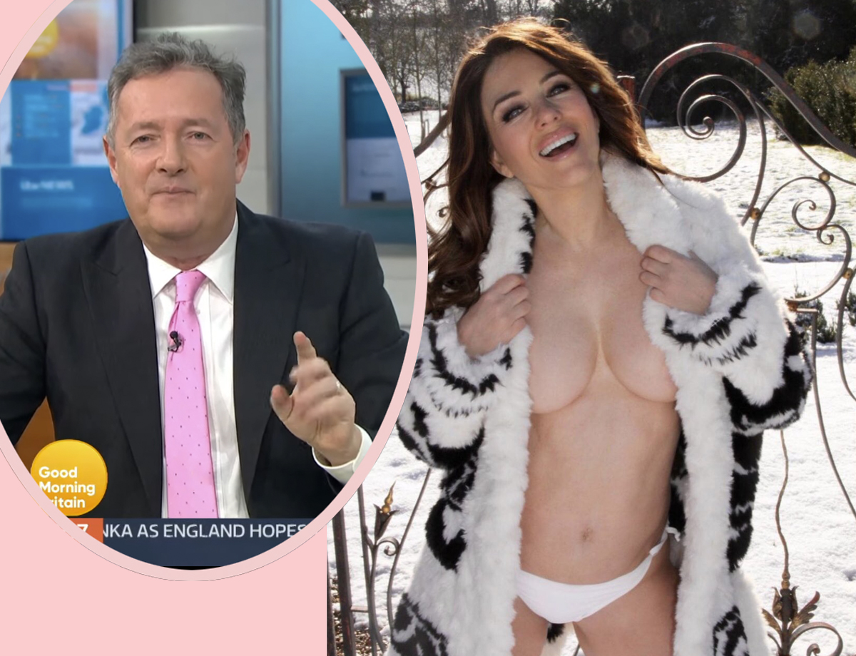Elizabeth Hurley Claps Back With Most Unexpected Response After Piers Morgan Drags Her Topless Photo As 'Creepy'