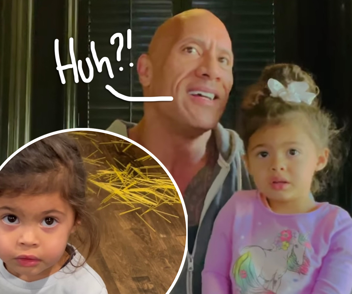 Dwayne 'The Rock' Johnson's 2-Year-Old Hilariously Blames The 'Spaghetti Fairy' After Making Huge Mess — WATCH!