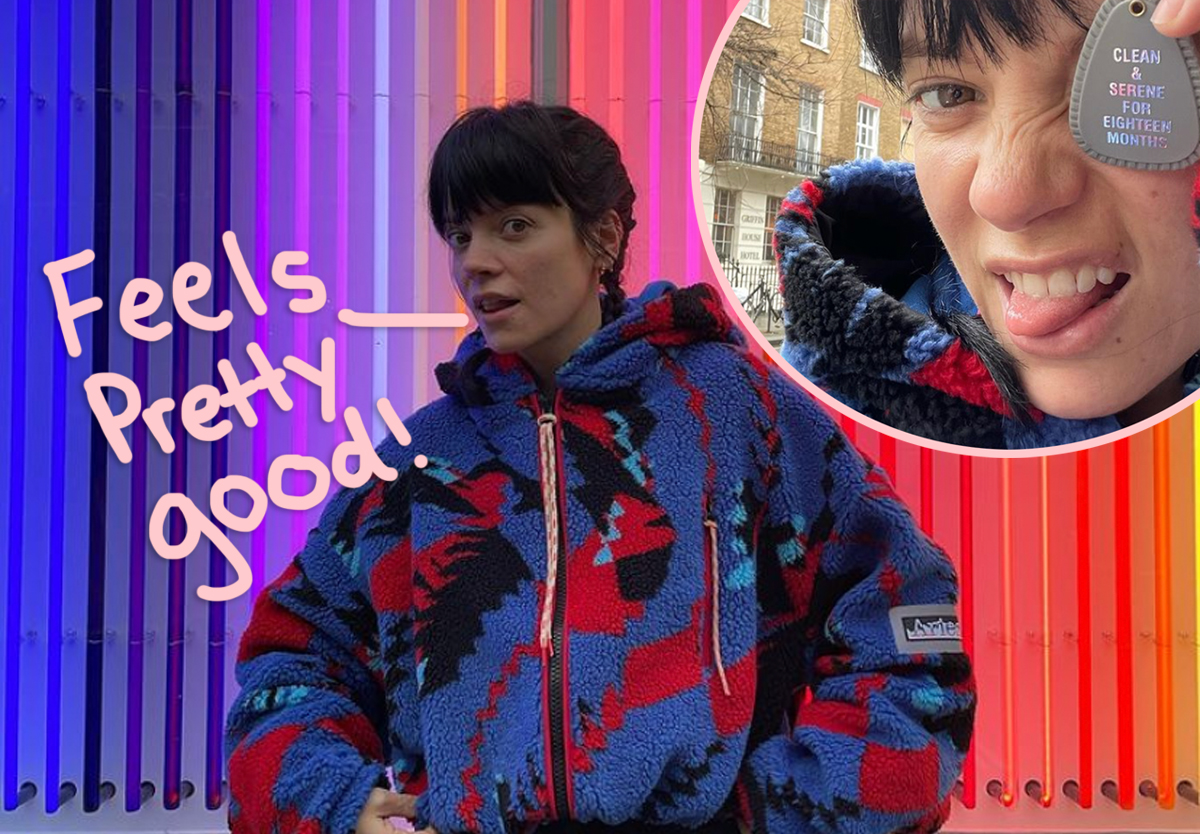 Lily Allen Proudly Celebrates 18 Months Of Sobriety!