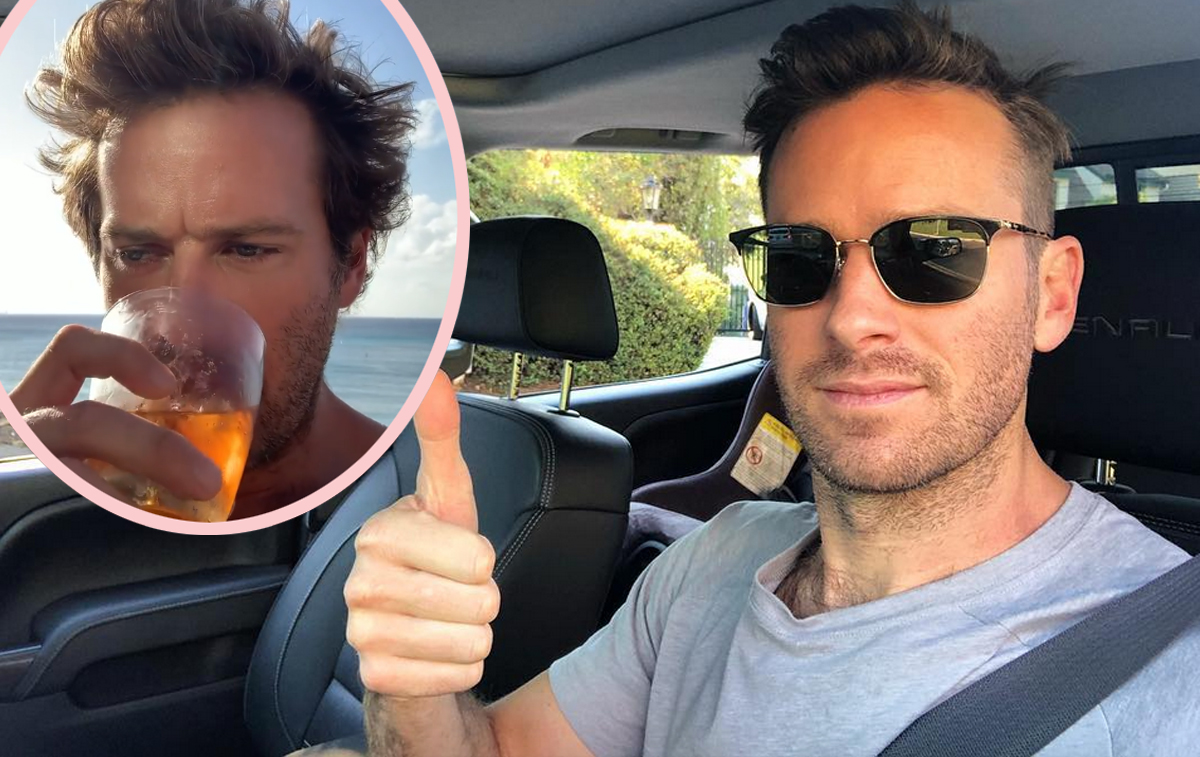 Armie Hammer Seen Drinking & Driving And Licking Crystals (???) In Bizarre Video Leak!