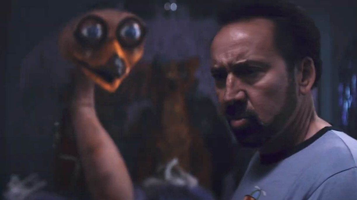 How would you explain Nic Cage's bootleg Five Nights At Freddy's movie to a medieval peasant?
