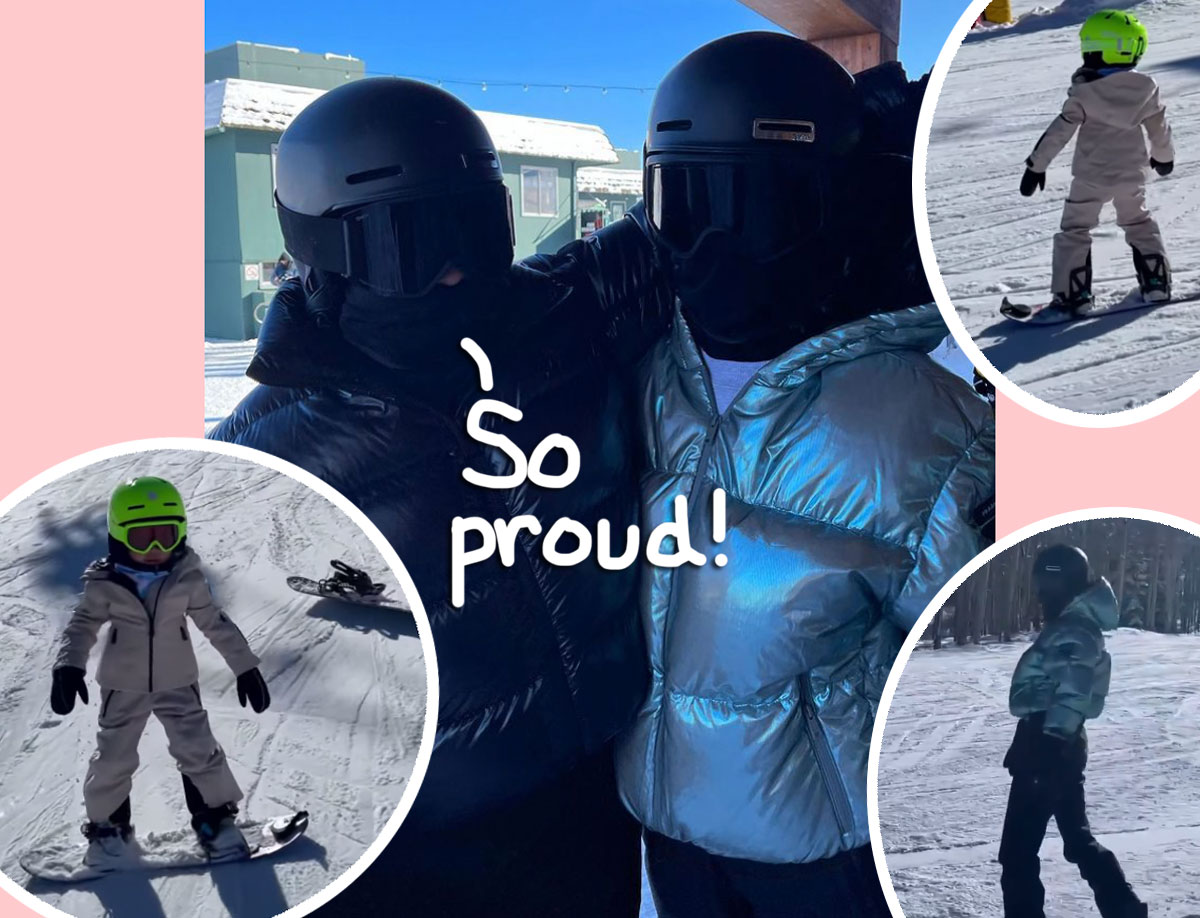 Stormi Webster Shows Off Stellar Snowboarding Skills On The Slopes Of Aspen! (VIDEO)