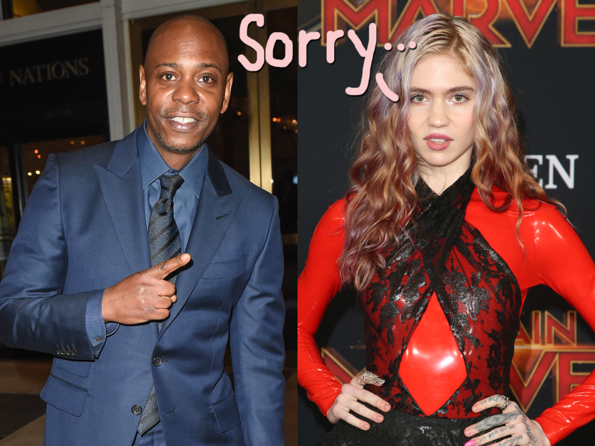 The Internet Thinks Grimes Gave Dave Chappelle COVID! That's What You Get For Not Wearing A Mask!
