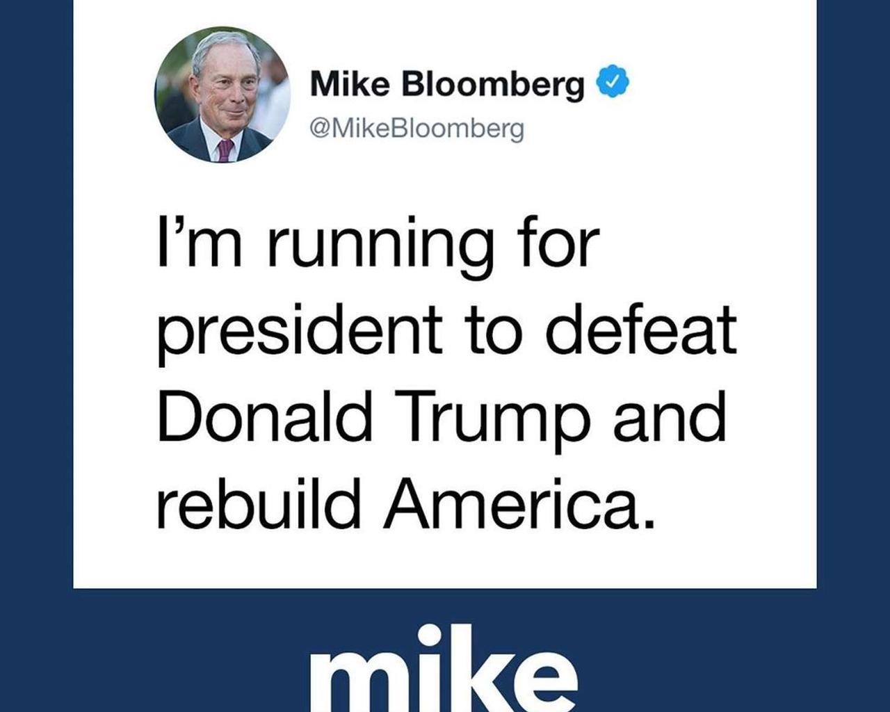 We Can't Afford Four More Years of Trump, Bloomberg Says