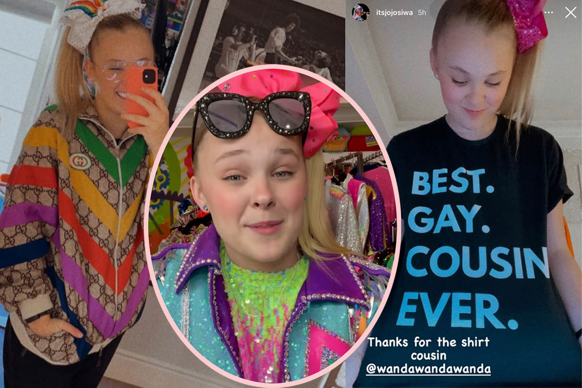 JoJo Siwa Confirms She's Gay With A Cute T-Shirt After Viral TikTok Vid!