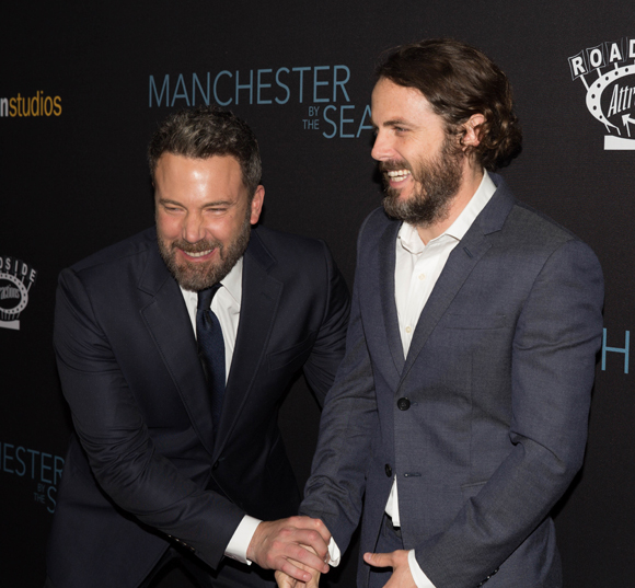 ben and casey affleck at manchester by the sea premiere