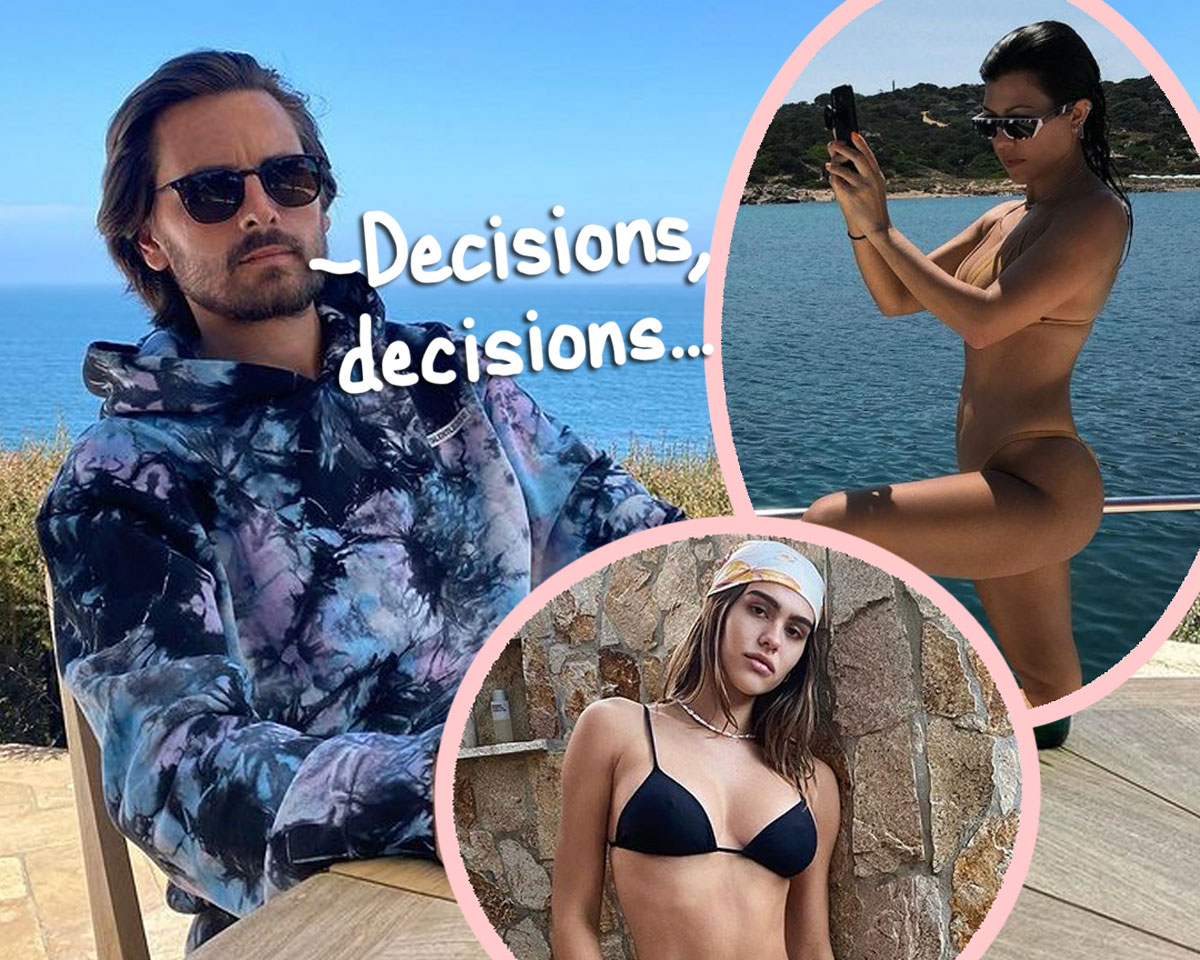 Scott Disick Is STILL Flirting With Kourtney Kardashian On Instagram — U Cool With That, Amelia Hamlin?!