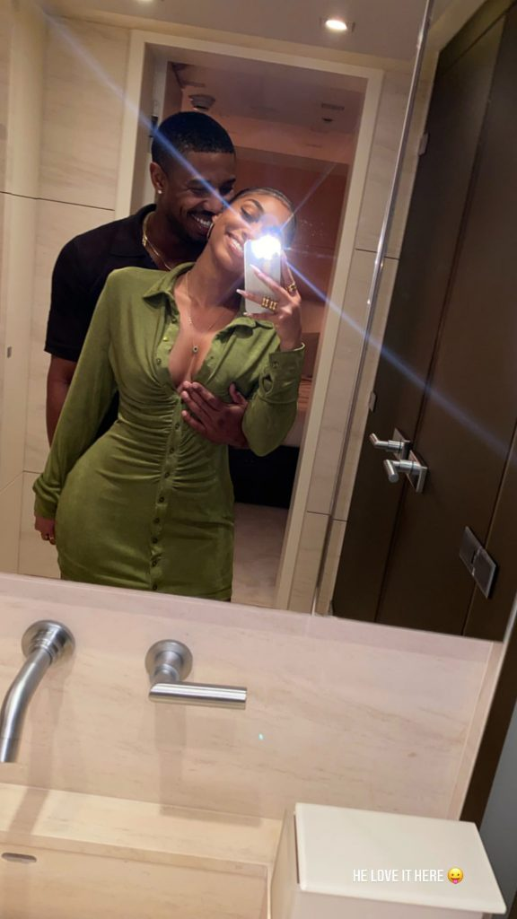 Michael B. Jordan & Lori Harvey Mirror Selfie During St. Barts Vacation