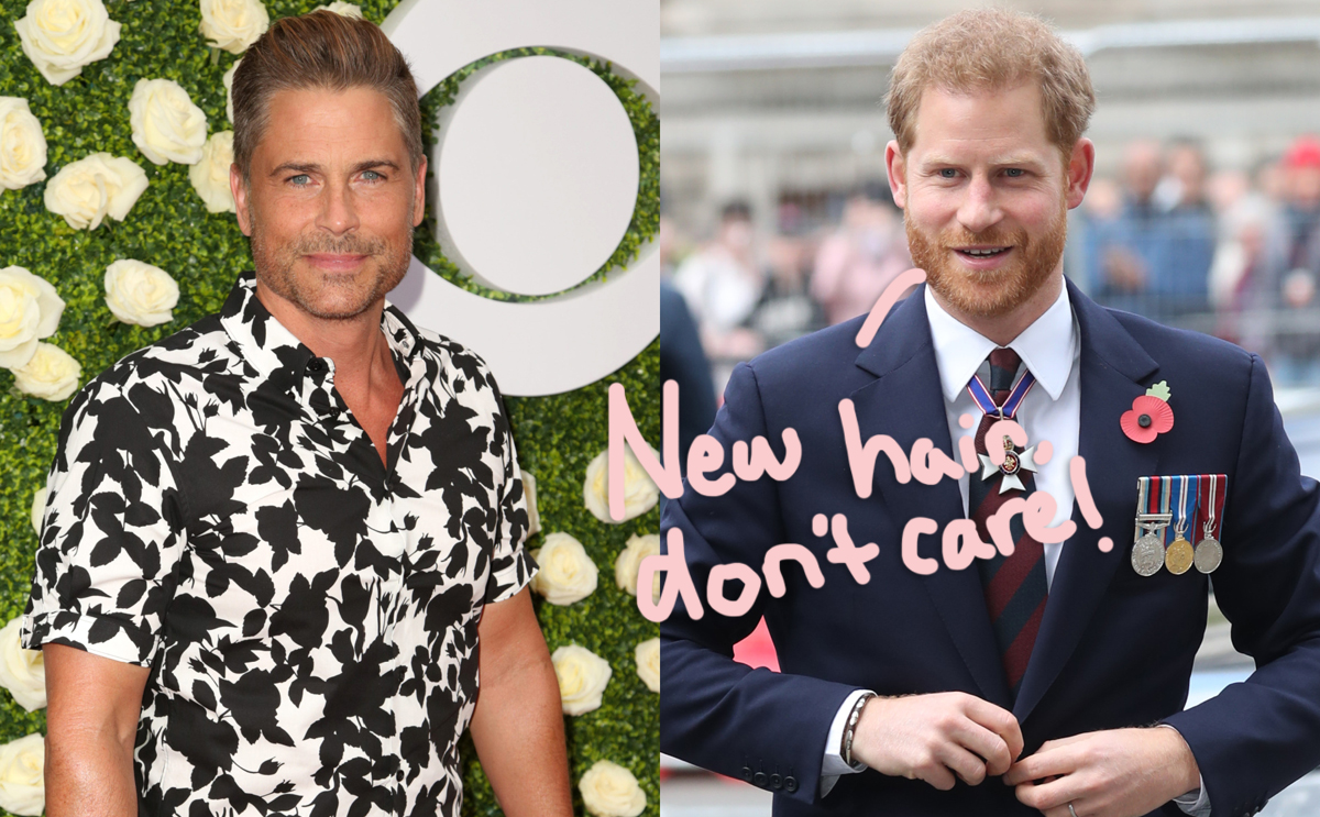 Does Prince Harry Have A Ponytail Now?! Rob Lowe Divulges His Eyewitness Account