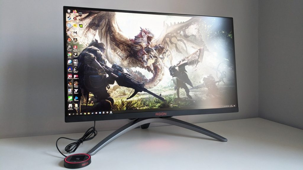 A photo of the AOC Agon AG273QX gaming monitor