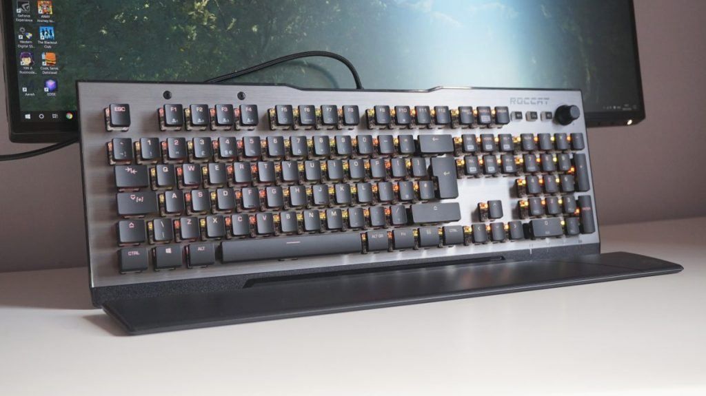 A photo of the Roccat Vulcan gaming keyboard