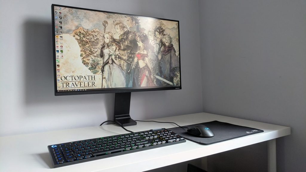 A photo of the Samsung Space gaming monitor