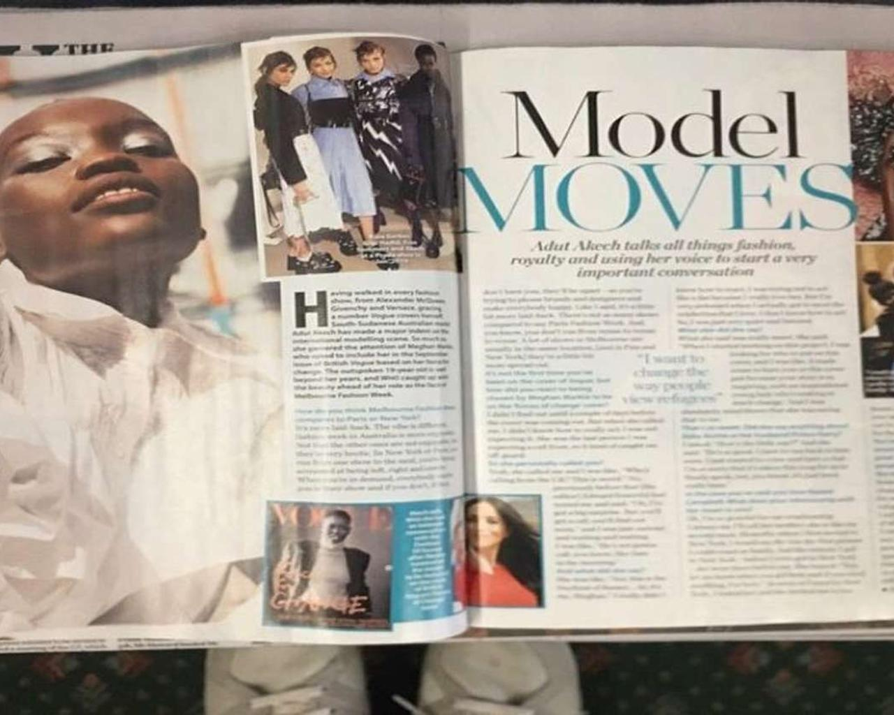Magazine Features Image of Wrong Model in Adut Akech Interview