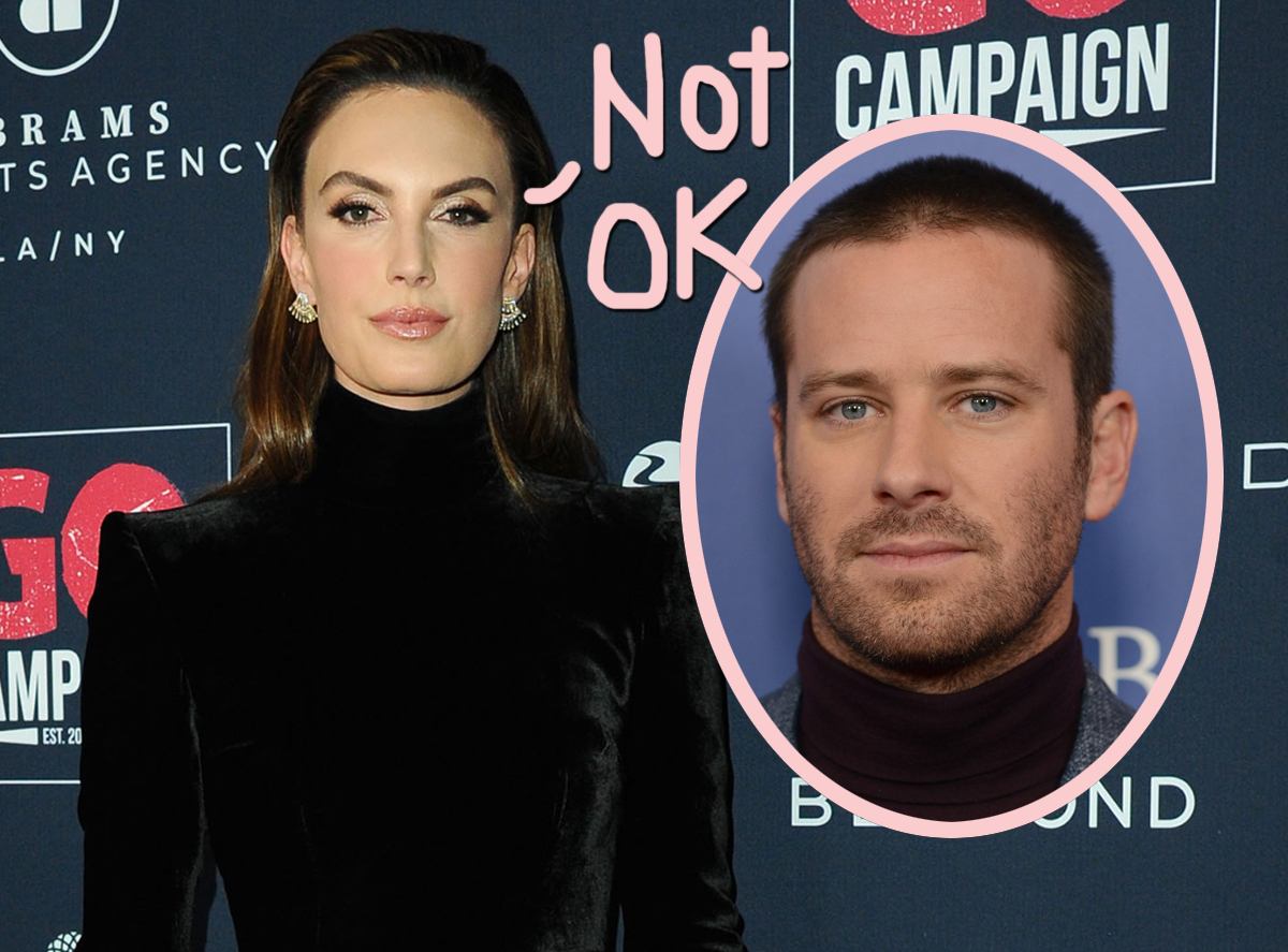 Armie Hammer's Ex Elizabeth Chambers Is 'Holding On For Dear Life' & Doing Her Best To Maintain 'Normalcy' As His Scandal Plays Out