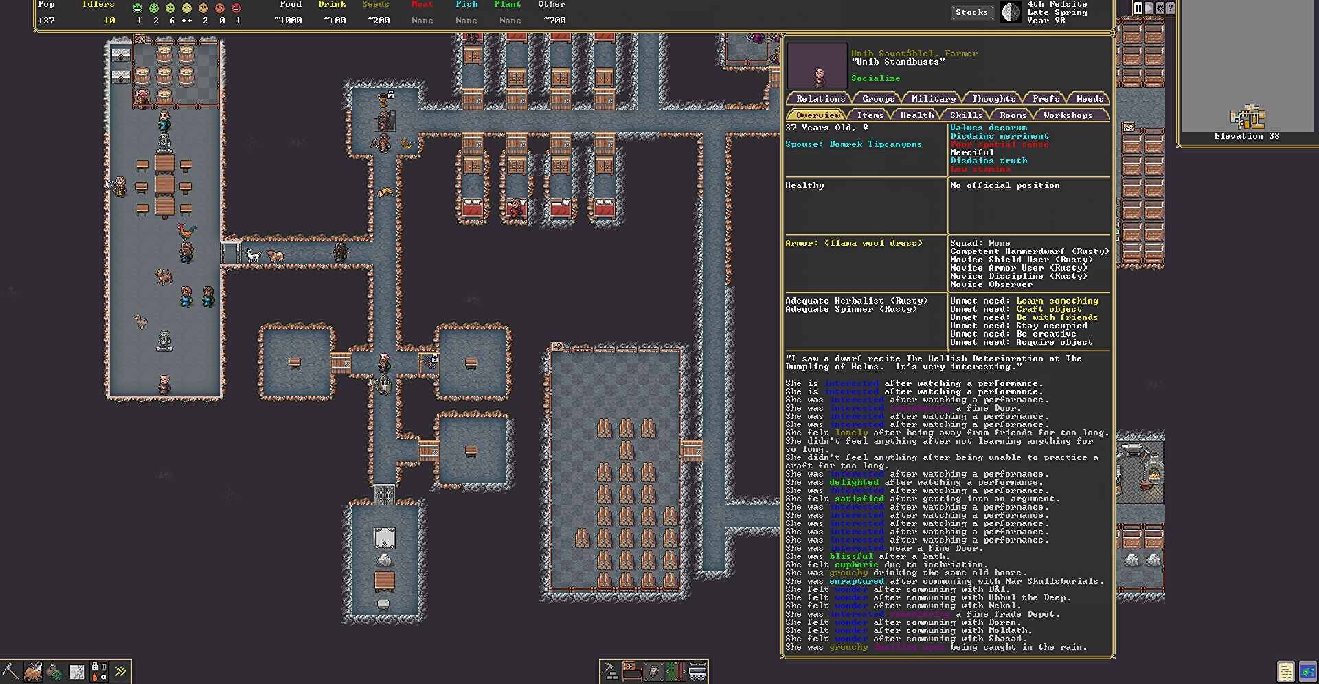 Dwarf Fortress's new UI looks so beautiful I could cry, despite still looking like this
