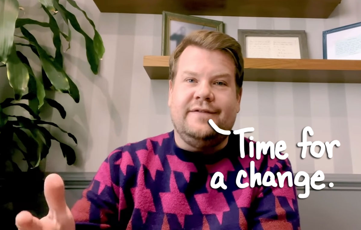James Corden Says He's 'Fed Up With The Way I Look,' Announces Weight Watchers Partnership