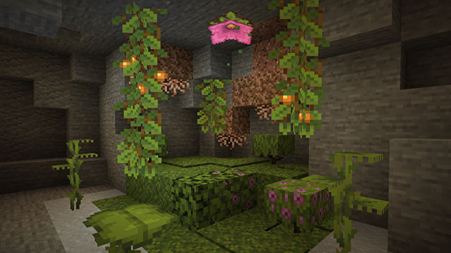 Minecraft's latest Caves & Cliffs snapshot is well moist
