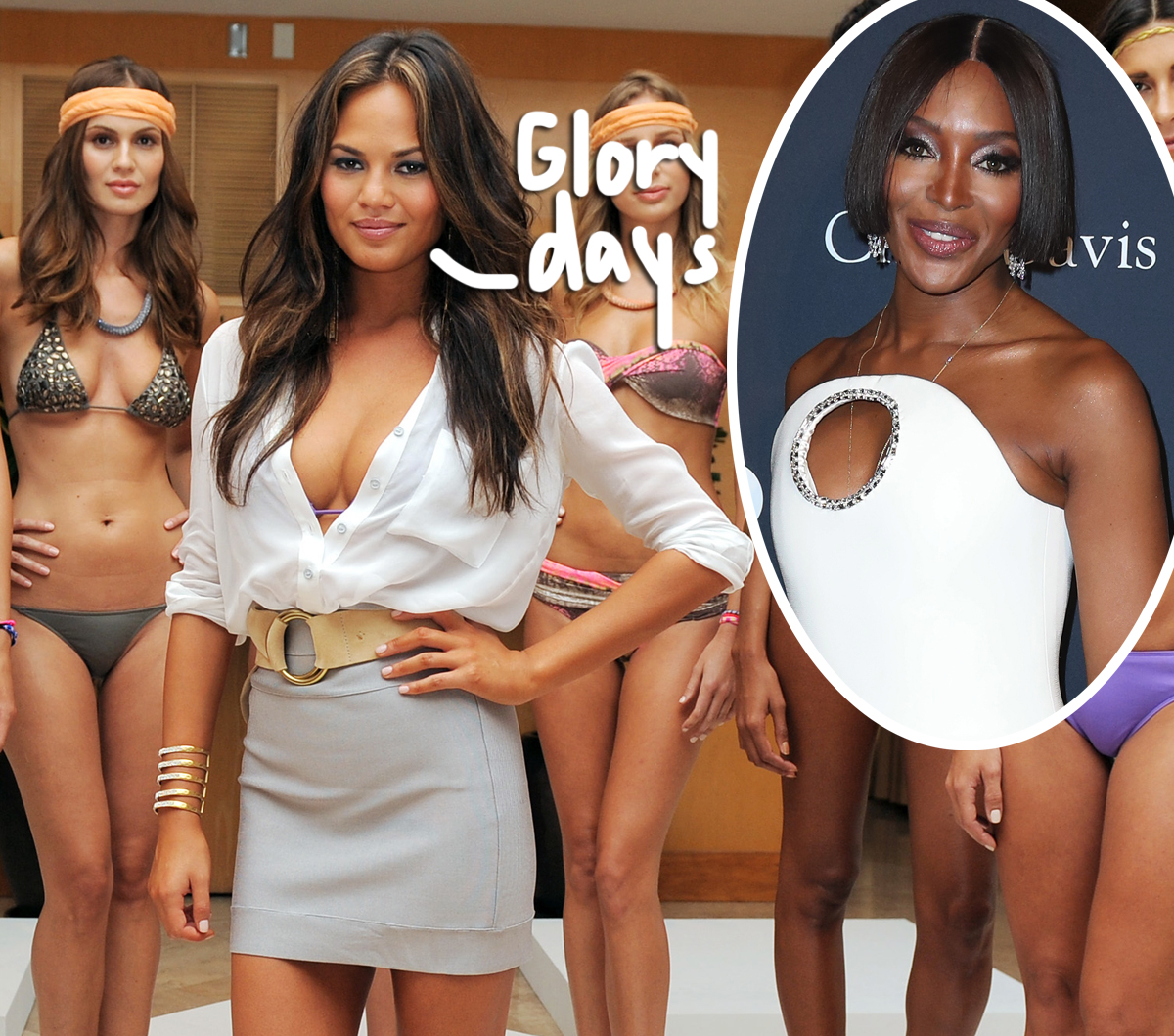 Chrissy Teigen Does NOT Look Back Fondly On Her Time As A 'C-Class Naomi Campbell' Bikini Model