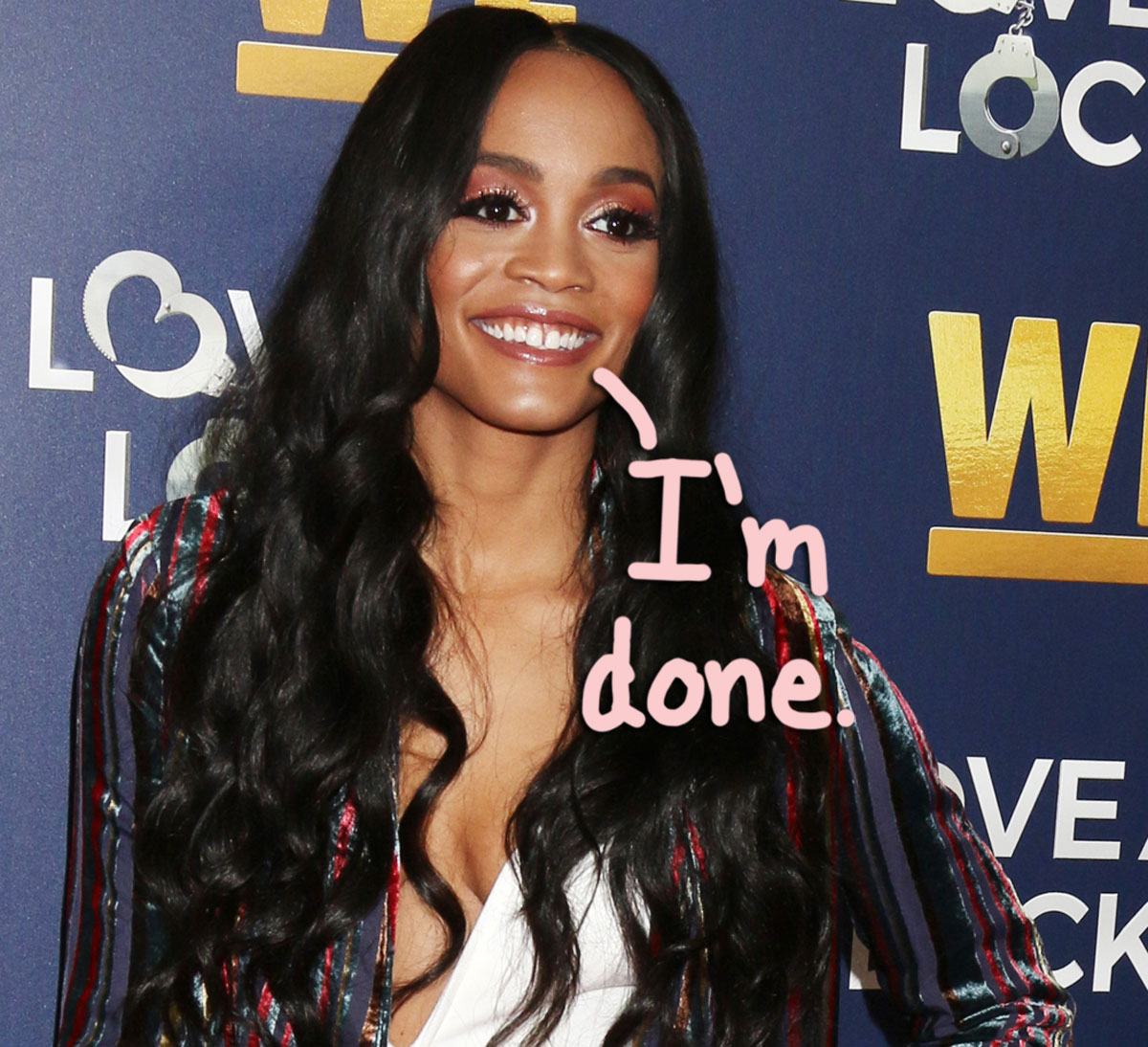 Rachel Lindsay Has Deleted Her Instagram Account Due To 'Hate She's Getting From Bachelor Fans'