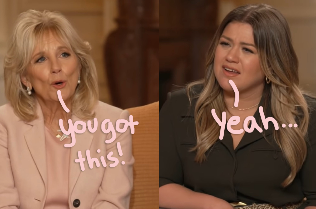 First Lady Dr. Jill Biden Gives Kelly Clarkson Some Expert Advice On Healing After A Divorce