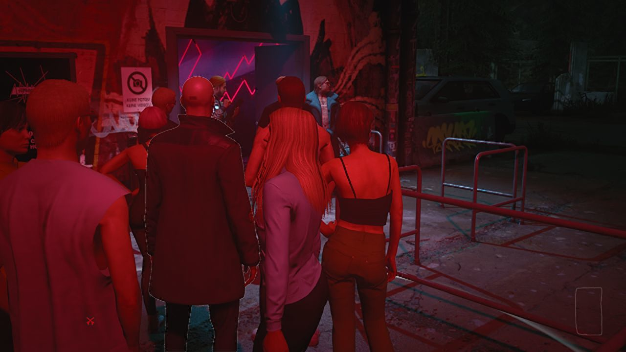 I queued for 45 minutes outside Hitman 3's Berlin Club