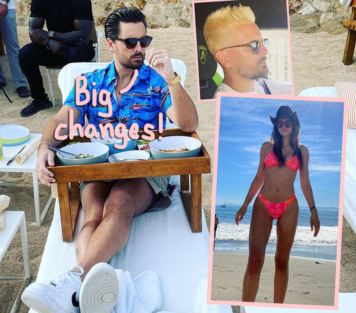 Newly-Blonde Scott Disick Goes Instagram Official With Girlfriend Amelia Hamlin!