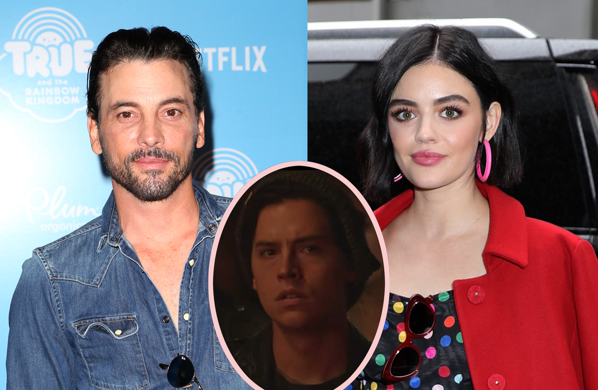 NEW COUPLE ALERT! Lucy Hale Spotted Kissing Riverdale Daddy Skeet Ulrich!