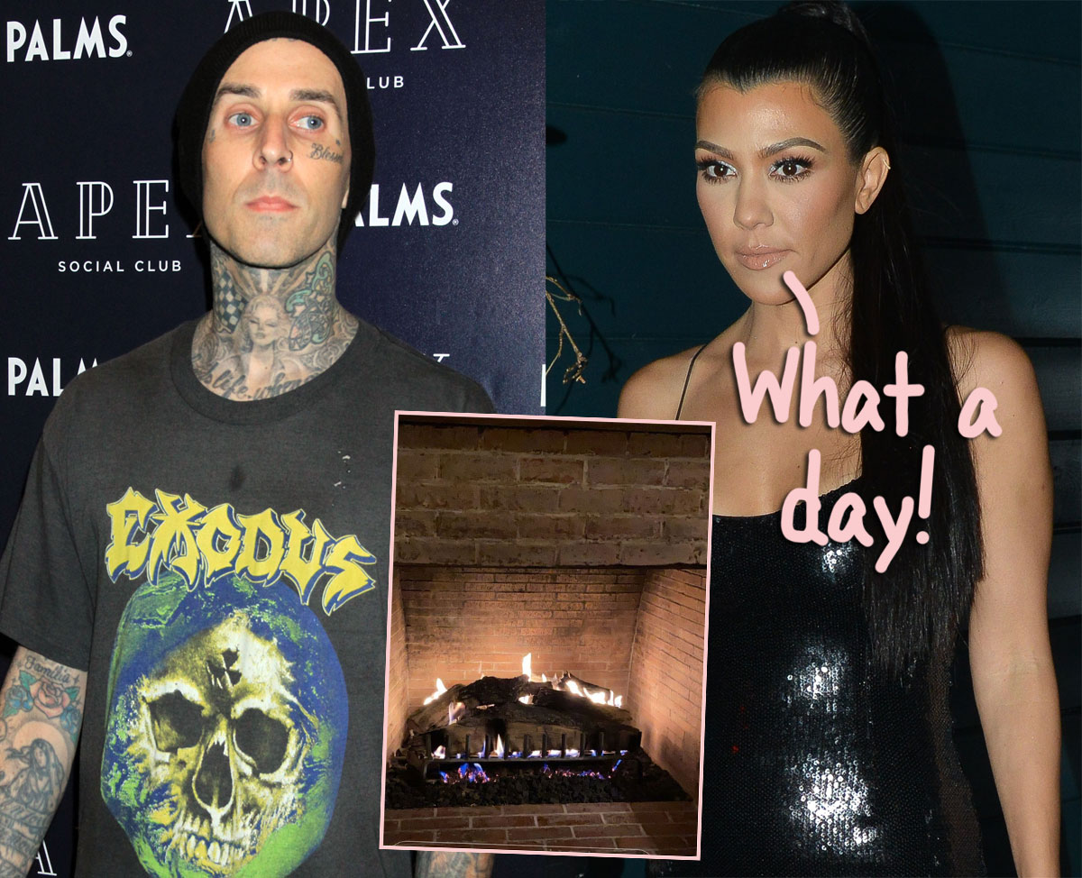 Here's How Kourtney Kardashian & Travis Barker Celebrated Valentine's Day Together!
