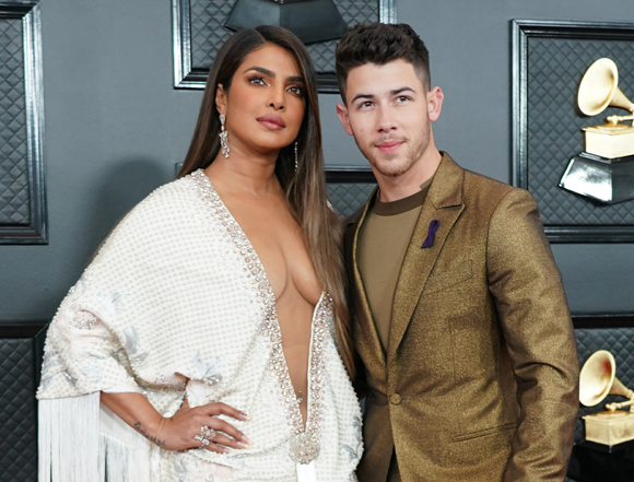Priyanka Chopra and Nick Jonas at the 2020 Grammys