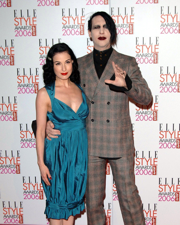 Dita Von Teese and Marilyn Manson in happier times