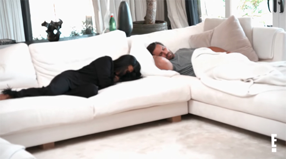 Kourtney and Scott on the couch KUWTK