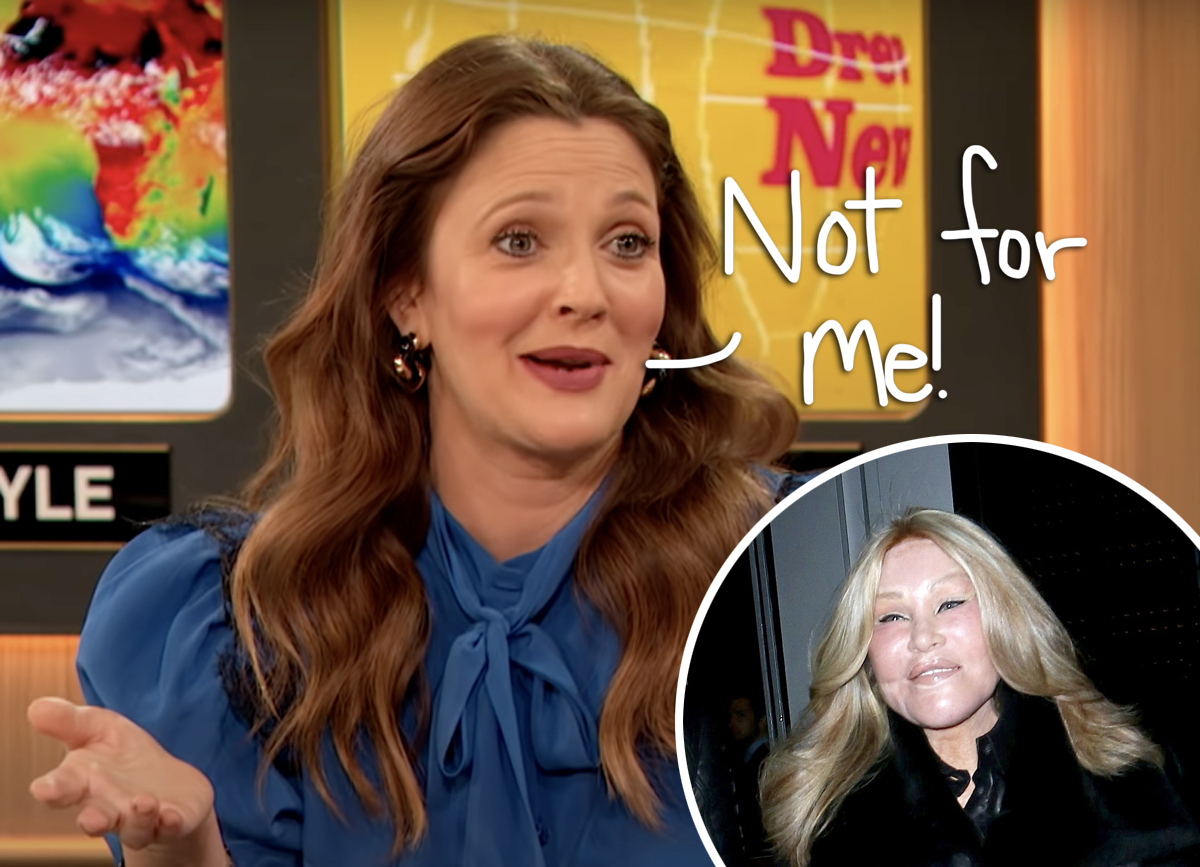 Why Drew Barrymore Will NEVER Get Plastic Surgery!