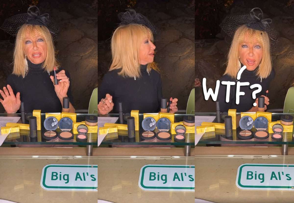 Home Intruder Interrupts Suzanne Somers' Makeup Live Stream — And She's SO Cool About It! WATCH!