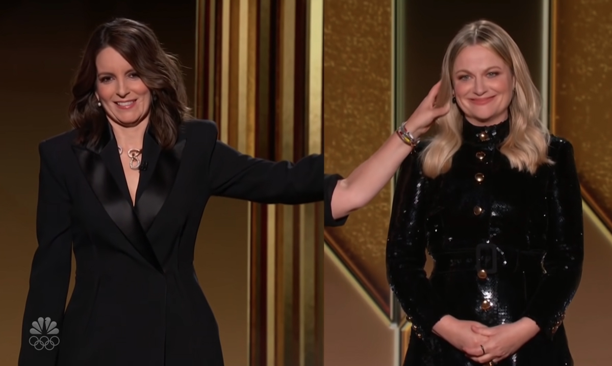Watch Tina Fey & Amy Poehler's Hilariously Distant Golden Globes Monologue HERE!