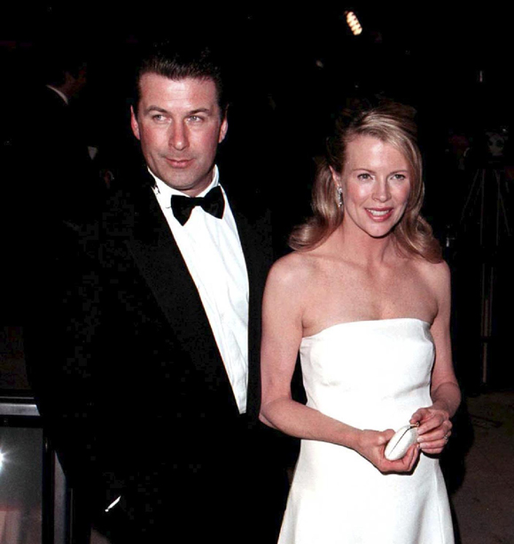 Alec Baldwin and Kim Basinger at the Vanity Fair Oscar Party in 1999