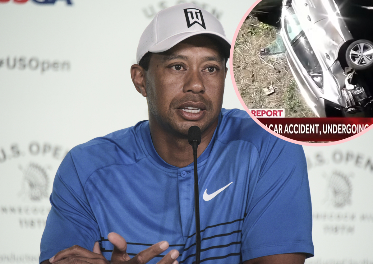 Tiger Woods Crash Investigation Reveals He Never Hit The Brakes During His Car Wreck!