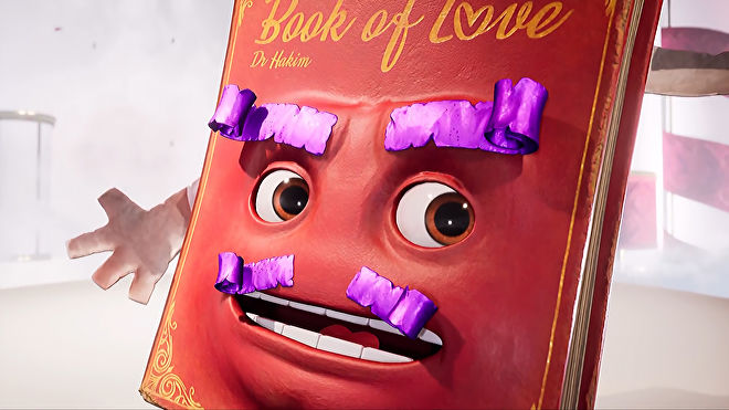 A close-up screenshot of The Book Of Love from EA and Hazelight Studios game It Takes Two