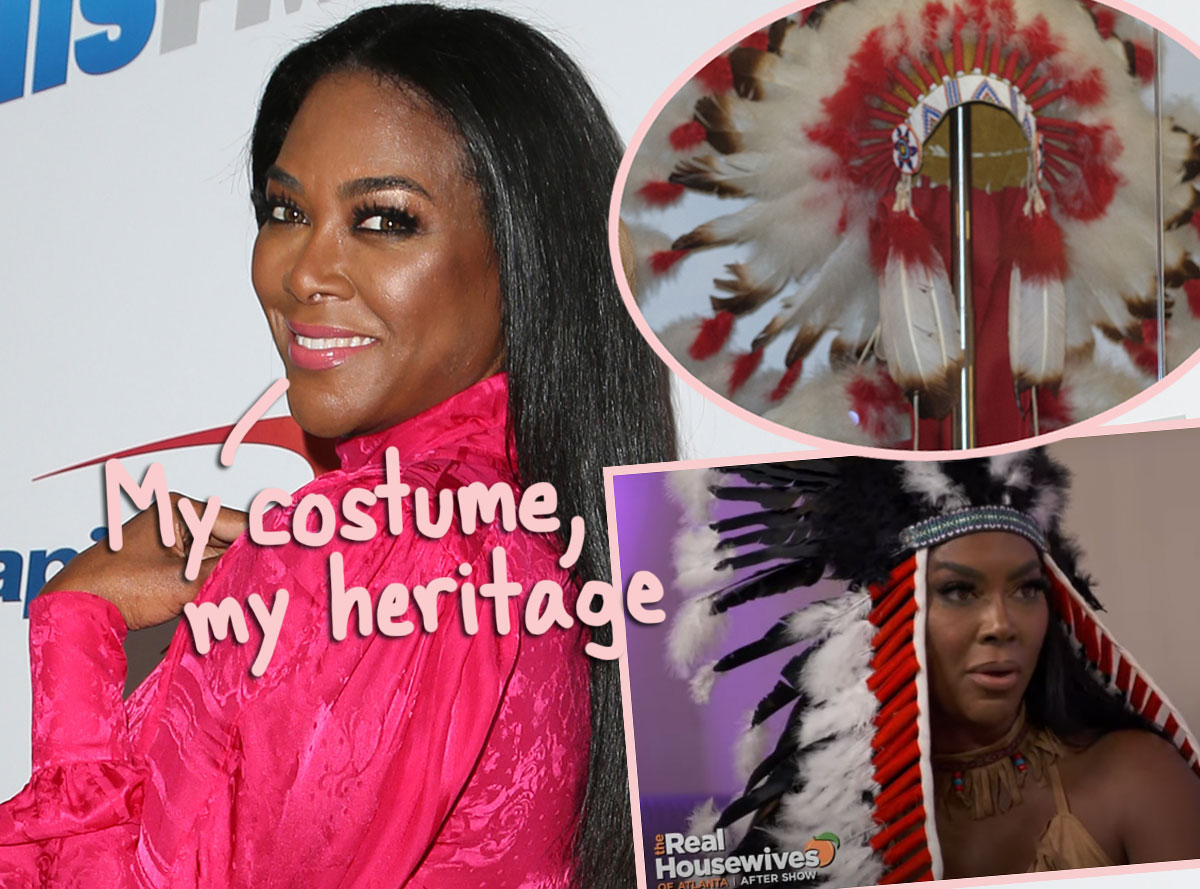 Kenya Moore Apologizes For Wearing Native American Headdress On RHOA & Claiming It Was 'Part Of My Heritage'