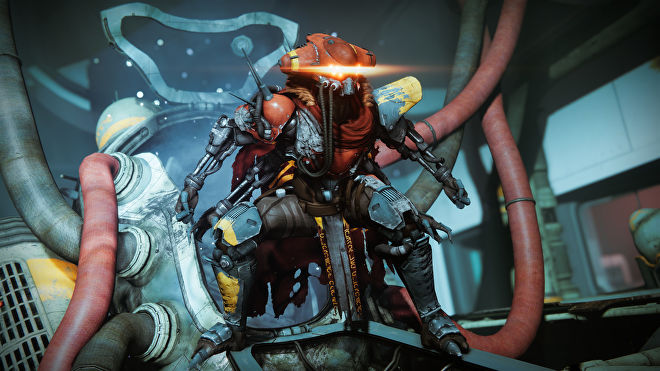 A Destiny 2 screenshot showing Taniks in the Deep Stone Crypt raid.
