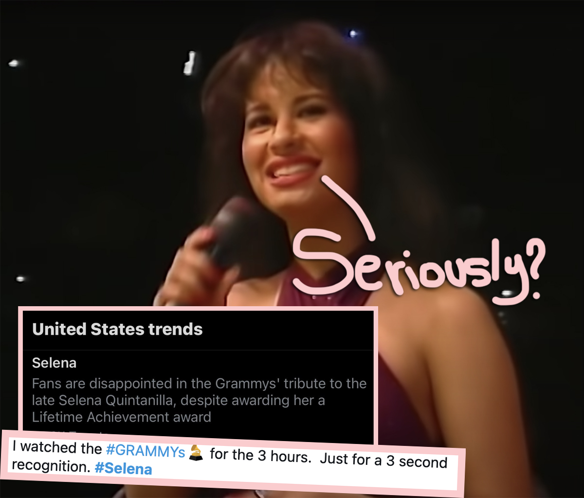 Selena Fans OUTRAGED By Her Grammys Tribute — Find Out Why!