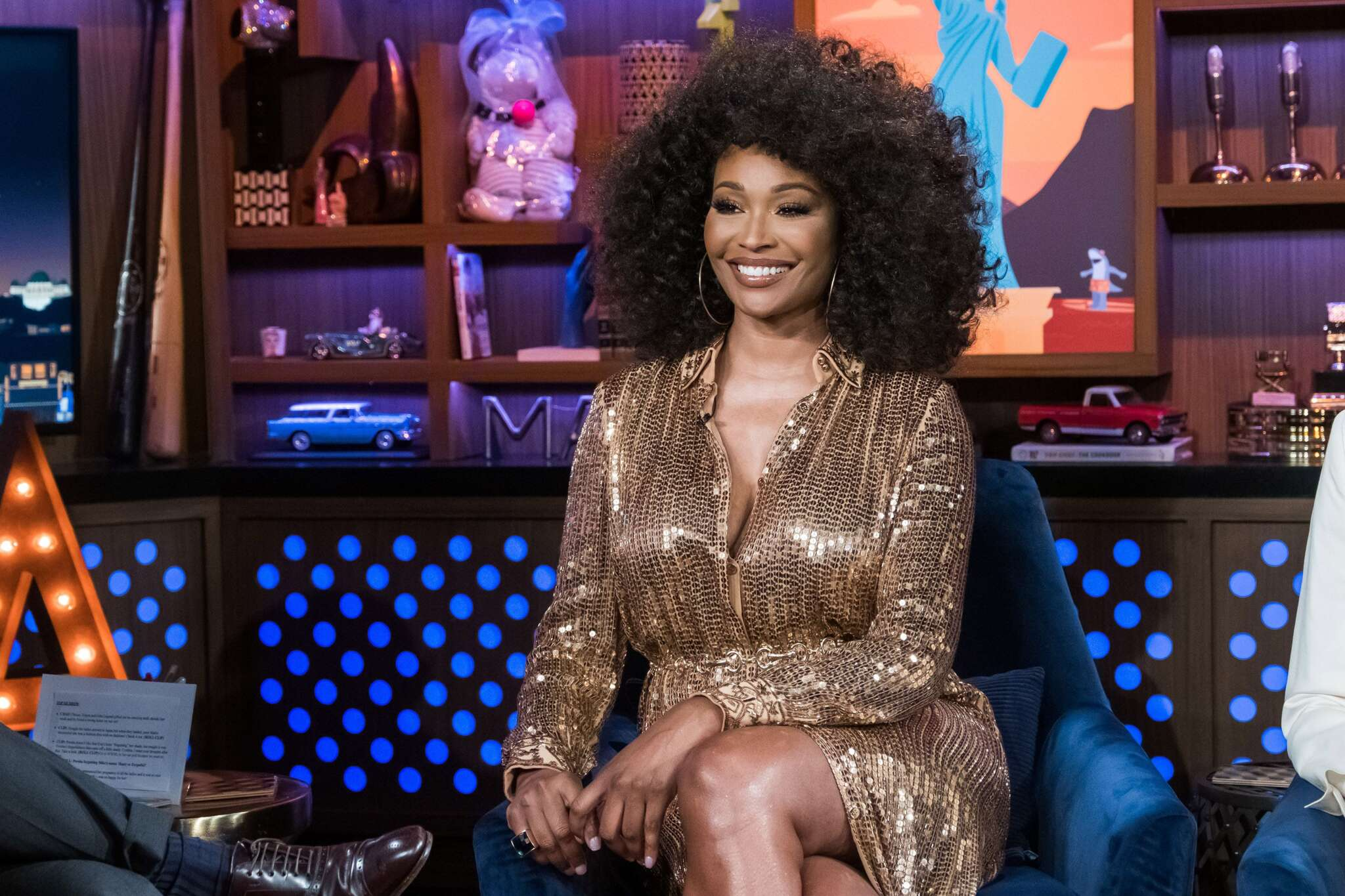 Cynthia Bailey Looks Gorgeous In This Golden Outfit – See Her Latest Pics