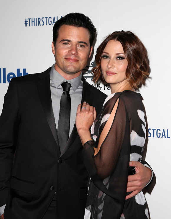 Chyler Leigh and husband Nathan West in 2015